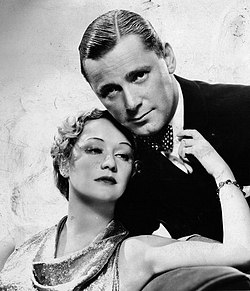 Herbert Marshall & Miriam Hopkins - Trouble in Paradise publicity shot.jpg
