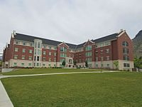 Photograph of Building 10 in Heritage Halls.