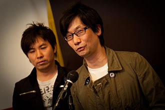 Hideo Kojima - Kojima (right) with translator Aki Saito in 2010