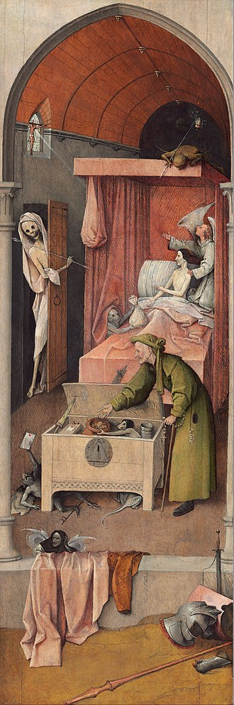 Death and the Miser - Image: Hieronymus Bosch Death and the Miser Google Art Project