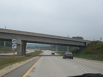 U.S. Route 151 - US 45 exit ramp in Fond du Lac