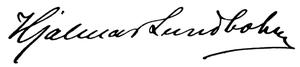 Hjalmar Lundbohm - Image: Hjalmar Lundbohm signature