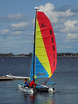 Hobie Cat - Hobie Getaway, a design with rotomolded plastic hulls