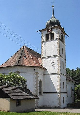 Hochwald, Switzerland - Image: Hochwald, Kirche St. Gallus 2