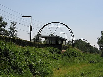 Hollandsche Rading railway station - Image: Hollandsche Rading 17juni 2006 005
