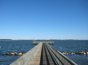 Holts Landing State Park - Crabbing pier at Holts Landing State Park