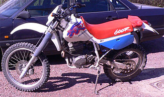 Dual-sport motorcycle - Bikes like this 1993 Honda XR600R helped popularize dual-sport motorcycles.