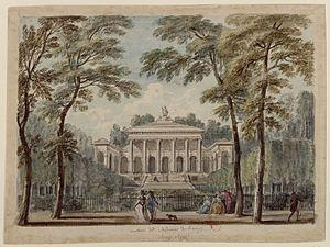 Étienne-Louis Boullée - Hôtel de Brunoy, ca. 1780