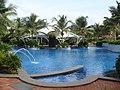 Hotel swimming pool at GRT Temple Bay Resorts, Mahabalipuram.jpeg