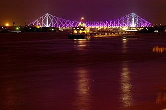 Howrah - Image: Howrah bridge in night 1 (448671154)