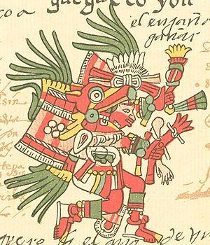 Huehuecoyotl - Huehecóyotl in the Codex Telleriano-Remensis.