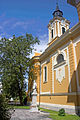 Hungary - Satoraljaujhely - St Stephen's Church - side entrance and tower.jpg