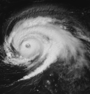 Hurricane Luis - Hurricane Luis on September 6 to the north of the Leeward Islands