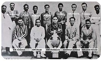 Hyderabad cricket team - Members of 1937-38 Ranji trophy winning Hyderabad team