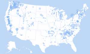 Hydroelectric power in the United States - Hydroelectric power map