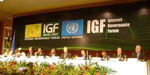 Picture taken at the IGF, Internet Governance ...