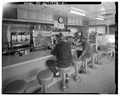 INTERIOR VIEW LOOKING EAST - White Crystal Diner, 20 Center Avenue, Atlantic Highlands, Monmouth County, NJ HABS NJ,13-ATLAH,2-2.tif
