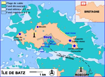 ile de batz carte Phare de l'Île de Batz — Wikipédia