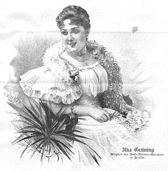 Ilka Grüning - Ilka Grüning, drawing in 1898