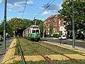 Inbound train at Hawes Street (2), August 2016.JPG