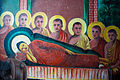 Inclined Buddha wall-painting in Weherahena Temple. Matara, Southern Province, Sri Lanka.jpg