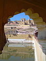 India - Jaipur2 - 007 - Amber Fort reflecting through the archway (2178444447).jpg