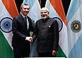 Indian Prime Minister Narendra Modi and Argentine President Mauricio Macri meeting on the sidelines of the 2018 BRICS Summit in Johannesburg (1).jpg