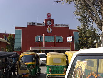 Indore - The Indore Junction eastern entrance