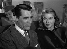 Still image of Cary Grant and Ingrid Bergman from the 1946 film Notorious