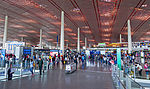 Interior of departure hall at Beijing Capital International Airport.jpg