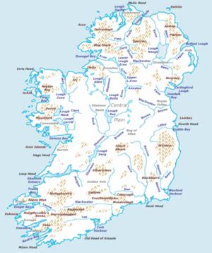 Cartina Geografica Fisica Dell Irlanda.Irlanda Isola Wikiwand