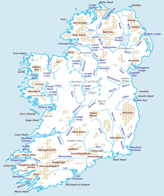 Map Of Ireland With Islands.Ireland