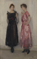 Isaac Israels - Ippy and Gertie Posing at Fashion House Hirsch, Amsterdam.png