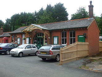 Isfield railway station - Station frontage