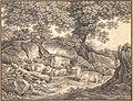 Italian Landscape with Trees, Rocks and a Resting Deer MET DP148311.jpg