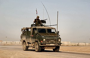 Operation Ancient Babylon - Italian Army personnel depart Tallil Air Base, Iraq for an early morning convoy escort duty on 28 April 2005