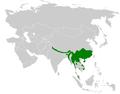 Ixos mcclellandii distribution map.png