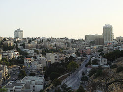 A view of Jabal Amman and surrounding hills