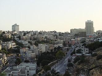 Jabal Amman - A view of Jabal Amman and surrounding hills