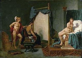 Apelle peignant Campaspe en présence d'Alexandre