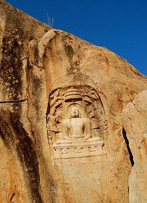 Samanar Hills - Image: Jain Sculpture from the Samanar Malai, Madurai