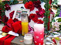James Brown Memorial Candles.JPG