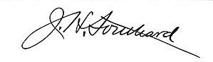 James H. Southard - Image: James H. Southard signature