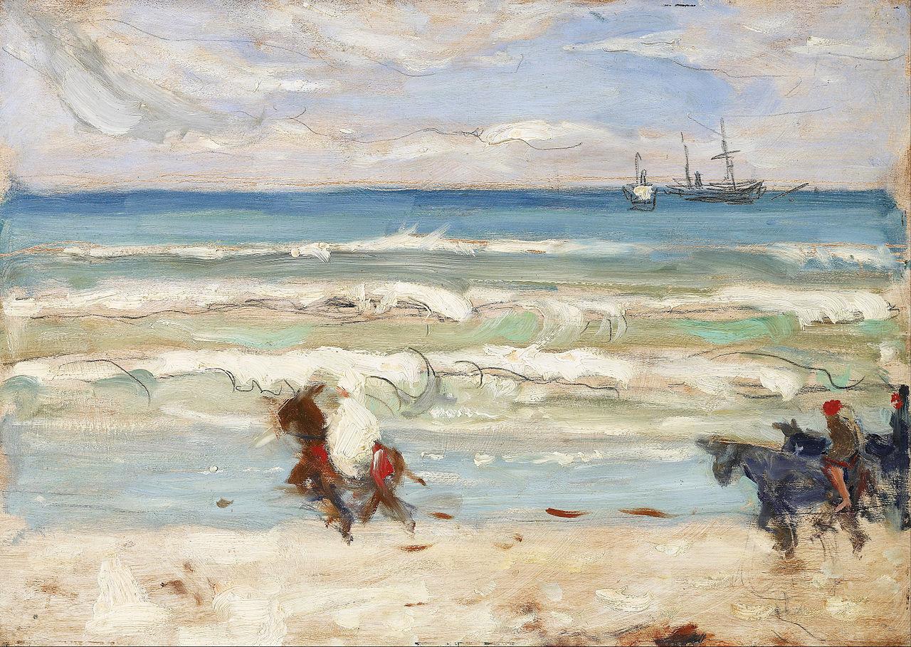 Ca s'est passé en août ! 1280px-James_Wilson_Morrice_-_Beach_Scene%2C_Tangier_-_Google_Art_Project