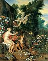 Jan Brueghel the Elder & Peter Paul Rubens - Flora and Zephyr, 1617.jpg