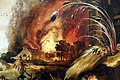 Jan mandijn, tentazione di sant'antonio, 1555 ca. 02 incendio.jpg