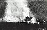 Japanese aircraft carrier Hiryu burning on 5 June 1942 (NH 73064).jpg