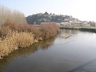 Jarama river in Spain