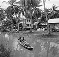 Javaanse kampong in de Van Drimmelenpolder in Nickerie, Bestanddeelnr 252-5526.jpg