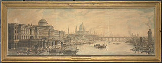 Somerset House, Saint Paul's Cathedral and Blackfriar's Bridge